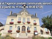 Réouverture partielle de la mairie et de l'Agence Postale Communale