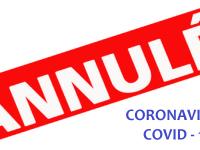 Coronavirus : manifestations annulées et activités suspendues