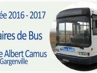 Rentrée scolaire 2016- 2017 - Horaires de bus pour le collège Albert (...)